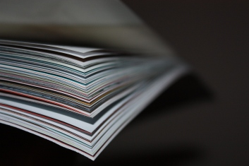 Layers of magazine pages
