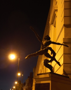Statue outside a building somewhere in London...!