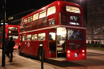 The good old open back red London Bus... maybe more of an icon than a monument but hey... it's a London red bus!